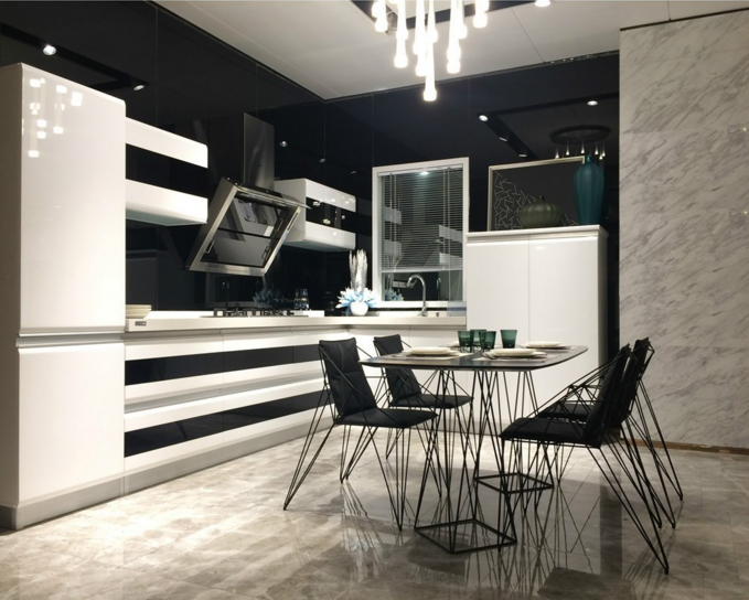 High quality export standard lacquer kitchen cabinets