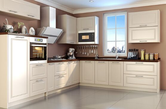 Pvc Kitchen Cabinet White Color
