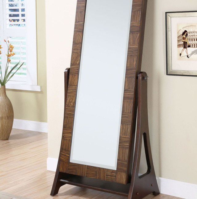 Fashion standing floor mirror, Jewelry armoire and full-length ...